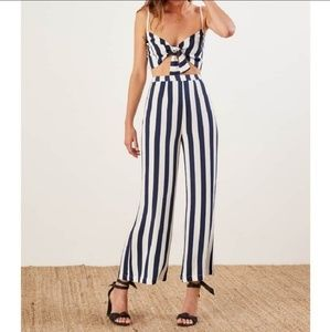 BNWT Reformation Bahama set dolce stripe